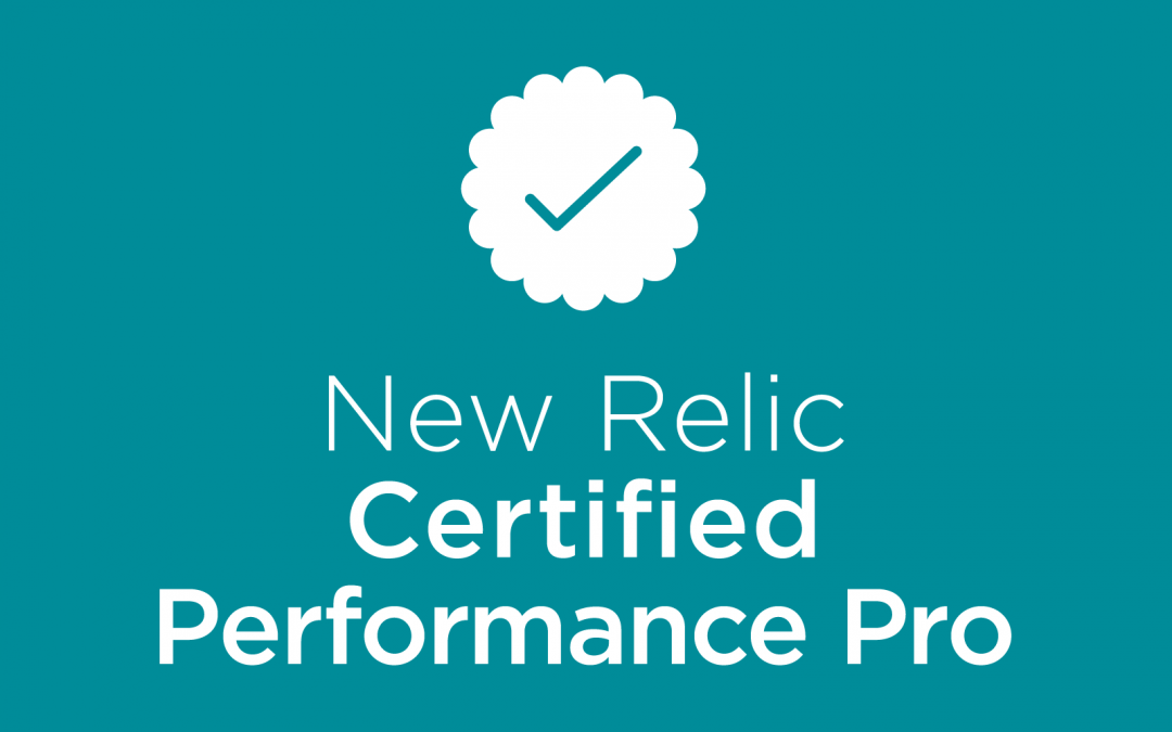 New Relic Certified Performance Pro Badge